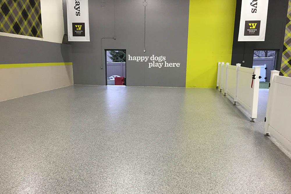 Anderson Painting concrete flooring for pet store