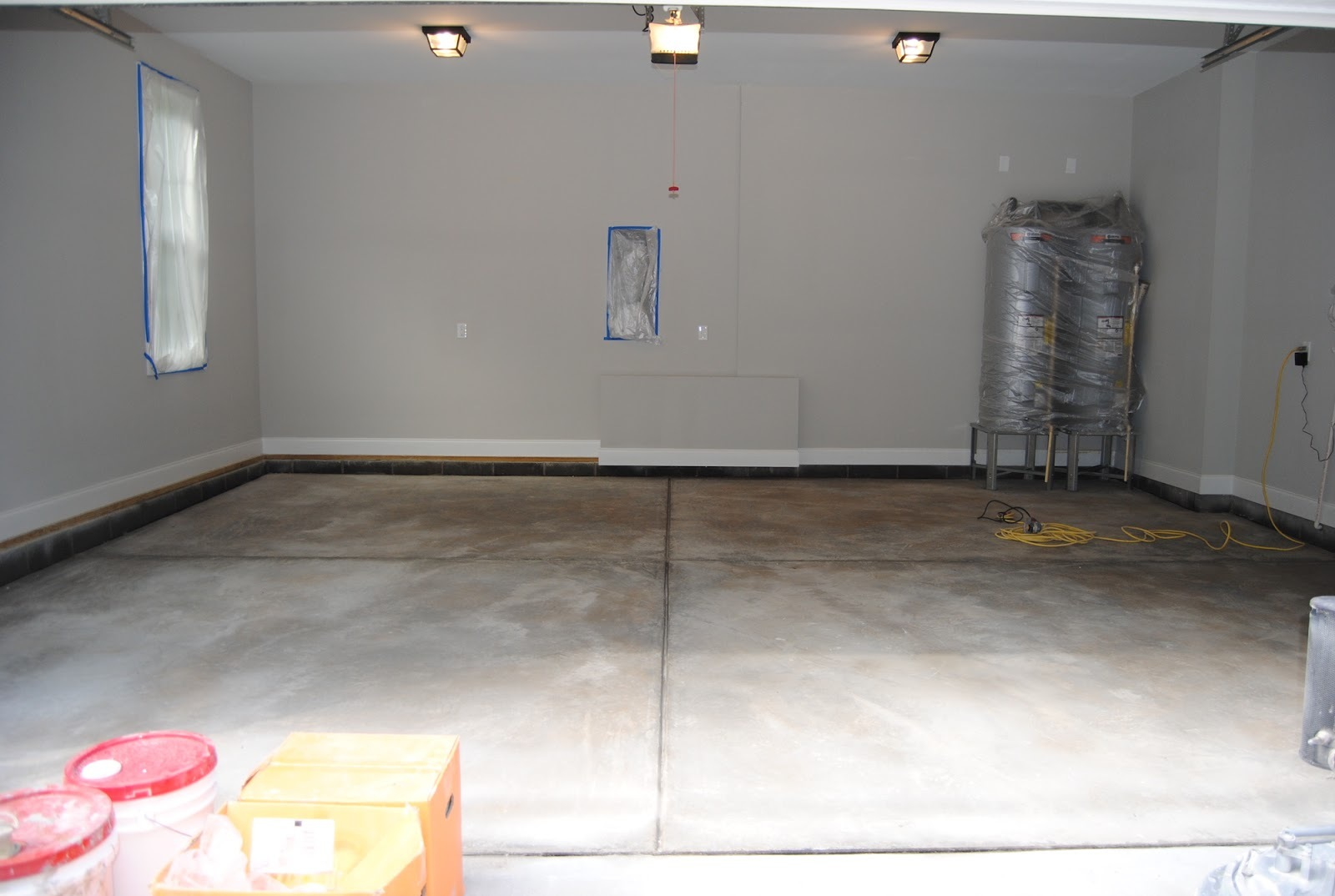 Concrete floor before a paint coating