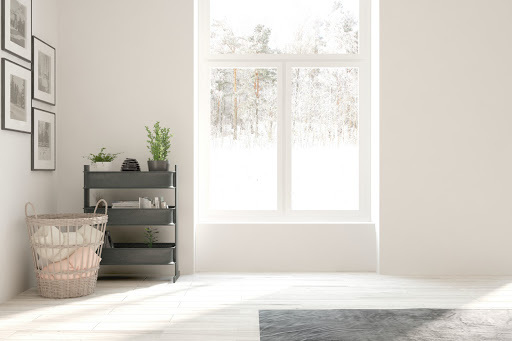 Interior painting in the winter