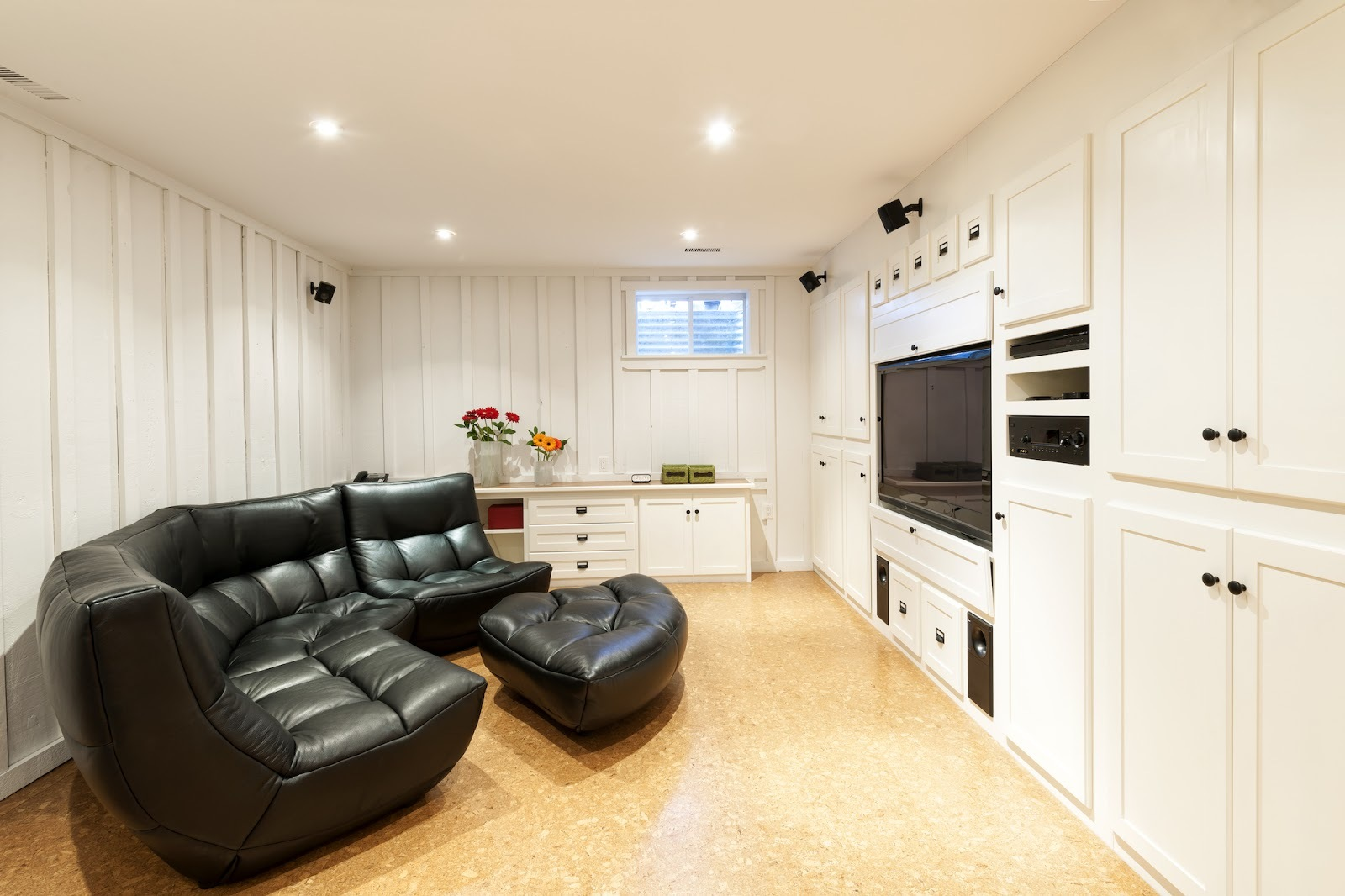 Fully finished basement in Raleigh