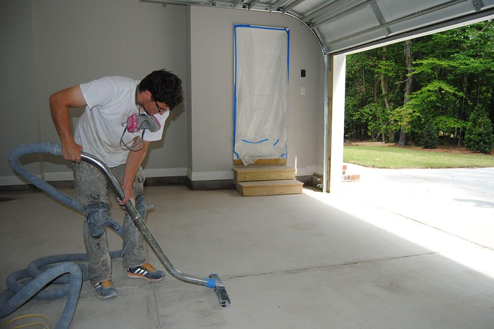 Anderson Painting concrete refinishing preparation