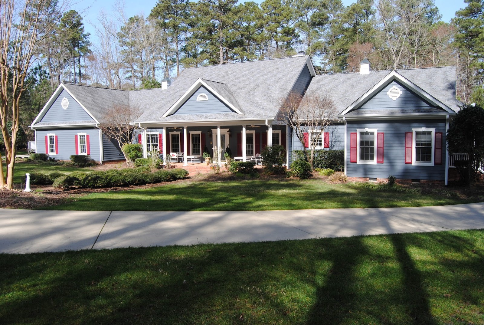 House in Raleigh with vinyl siding