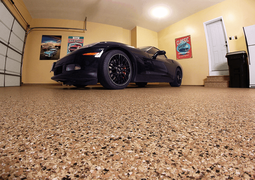 Concrete polish in a garage