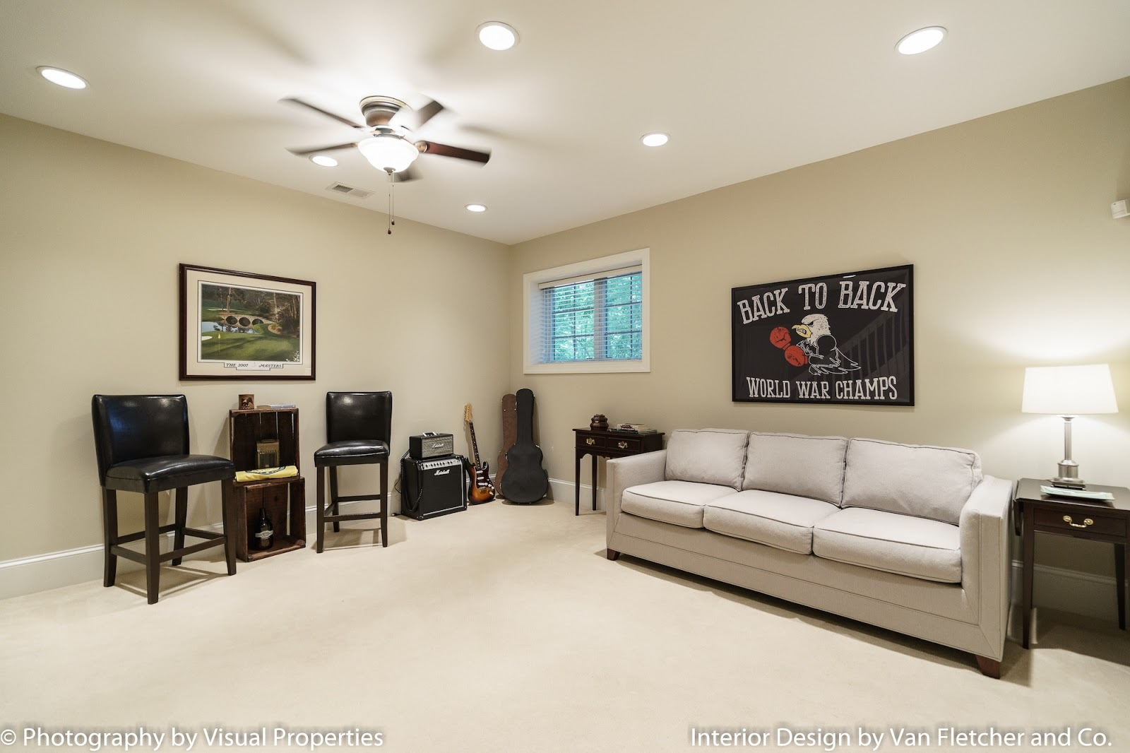 White painted living room in Raleigh